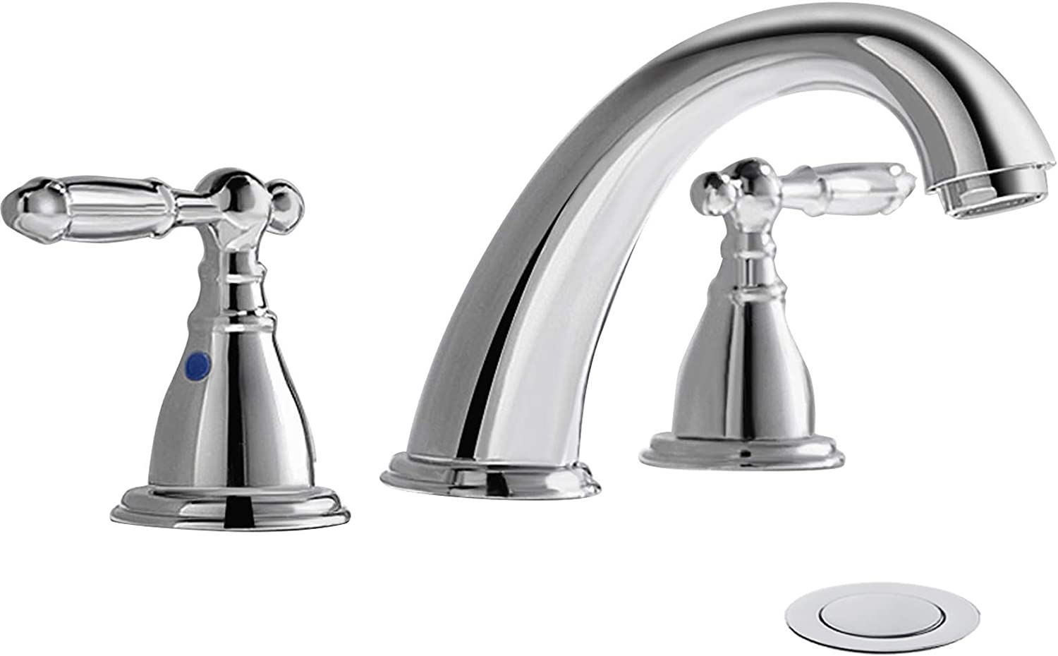 8 Inch 3 Hole Widespread Bathroom Faucet With Metal Pop Up Drain By Phiestina Chrome Widespread Bathroom Sink Lavatory Faucet Wf008 4 C Amazon Com