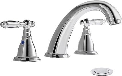 Chrome Details about  /bathnfinesse Bathroom Sink Faucet 8-16 Inch Lavatory Faucet