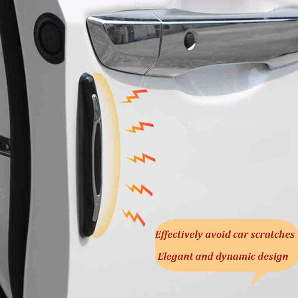para Veh/ículo Automotor SUV Cami/ón 4Pcs//Set Anti-fricci/ón Negro Puerta del Coche Borde Protector de la Etiqueta engomada de Las Tiras con Fuerte Adhesivo Anti-colisi/ón