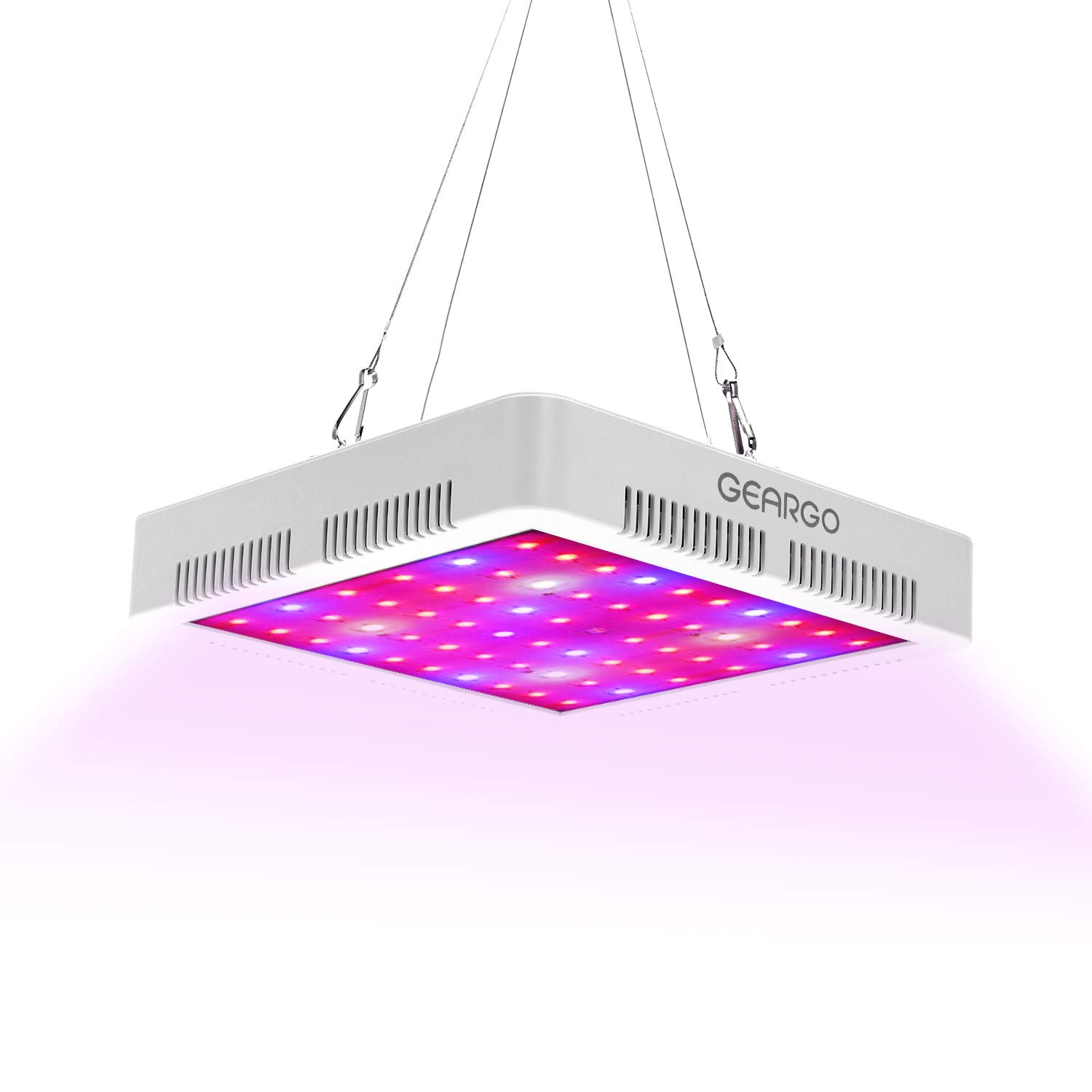 Led Plant Grow Light Full Spectrum, GEARGO 300W 100pcs Led UV & IR Grow Lamp with Cooling Fan for Indoor Plants Hydroponic Greenhouse Veg and Flower (Install Accessories Included)