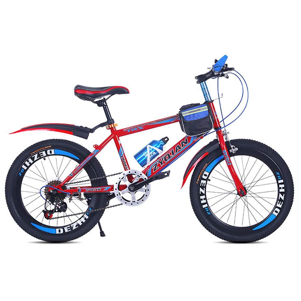 rojo FJW Bicicleta de montaña de los hombres 20 Pulgadas 22 Pulgadas 24 Pulgadas Marco de Cola Blanda 7 Velocidad Aleación de Aluminio Estudiante Niño Ciudad del Viajero Bicicleta,naranja,20in 20in