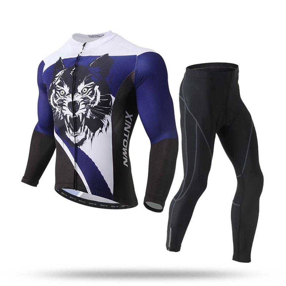 Pinjeer Feuchtigkeitstransport Herbst Herren Radtrikot Kleidung Atmungsaktive Outdoor Sportswear MTB Reiten Jersey Männer Langarm-Sets für Rennrad