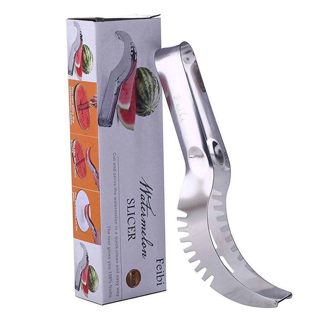 Feibi(TM) Watermelon Slicer, Premium Stainless Steel Fruit Knife Cutter & Server-Perfect for Any Melon by Feibi