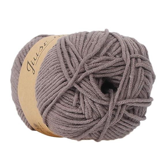 Cooljun Fil de Laine à Tricoter Pull écharpe en Coton - Laine en Acrylique – Assortiment de Couleurs – Idéal pour Tout Projet de Tricot et de Crochet (B1)
