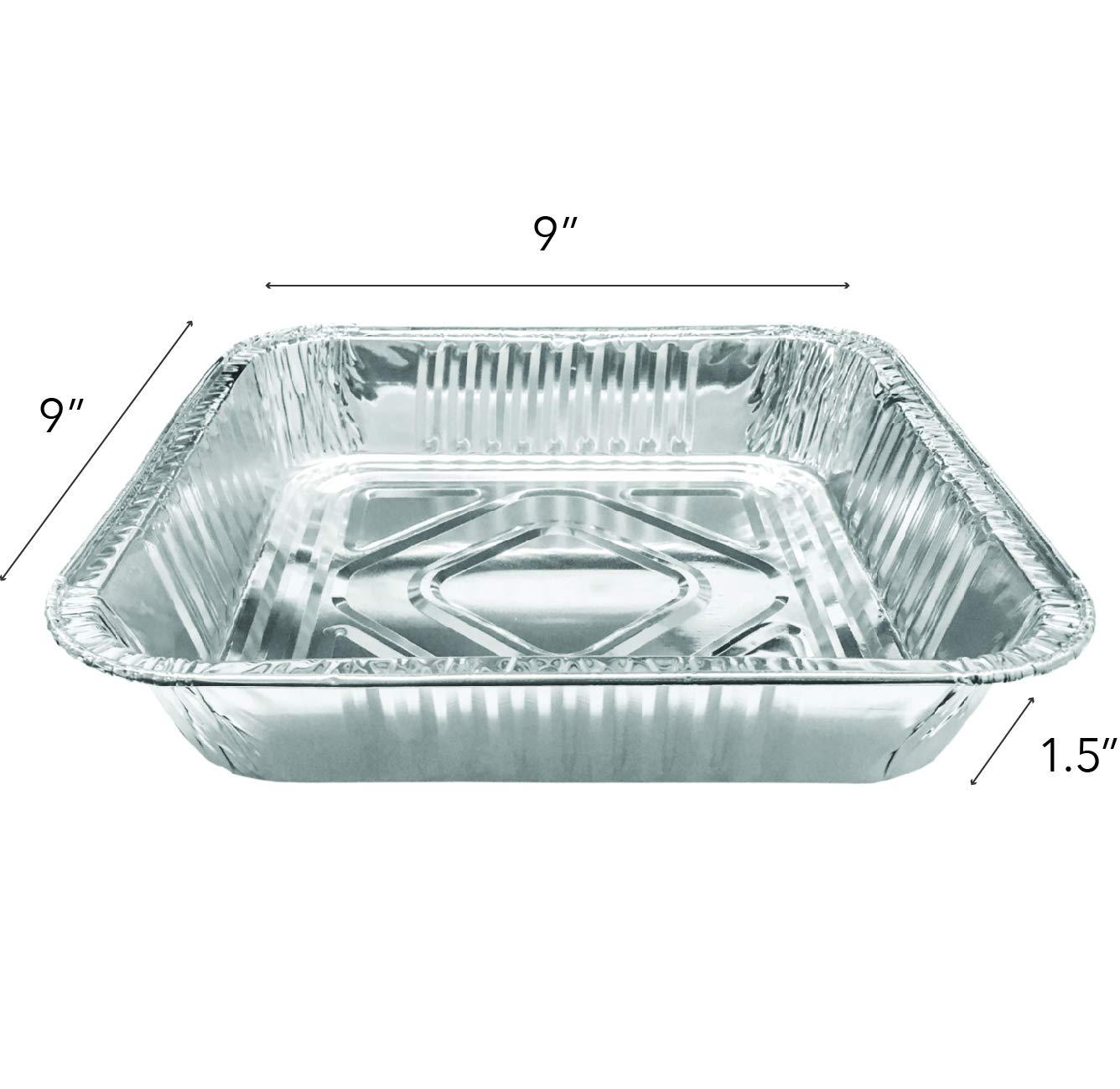 9x9 Aluminum Baking Pans (30 Pack) Square Baking Pans - 9 Inch Cake Pan - Brownie Pan - Lasagna Pan - 9'' x 9'' x 2'' by Stock Your Home (Image #1)
