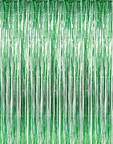 Green Tinsel Fringe Curtain order