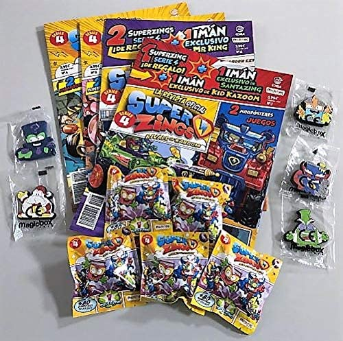 EDIBA Pack Revista Oficial Superzings Series 4: Amazon.es: Juguetes y juegos