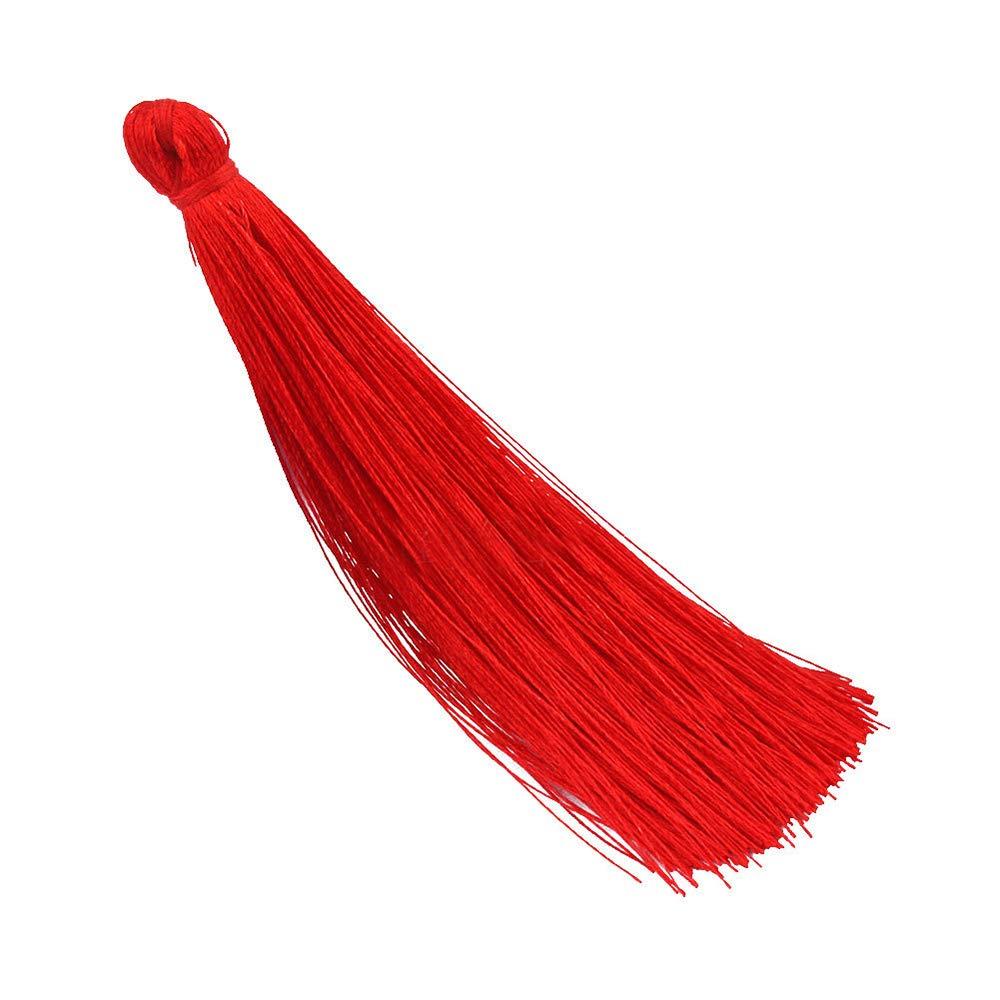 20 Pcs Long Sewing Tassels Fringe Pendant Tassels Lace Long Silk Tassels DIY Craft Brown