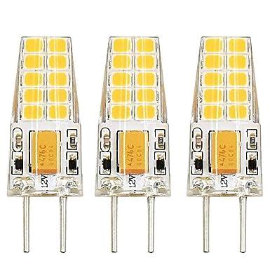 Bonlux 3W Bi-Pin Sockel G6.35 / GY6.35 Sockel JC Typ AC/ DC 12V 3000K Warmweiß 2-Stifte Ersatz für JCD LED Halogen Glühbirne