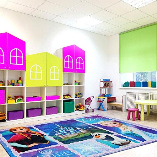 5x7 Room Design Of Disney Frozen Rug Anna Olaf Elsa Room Decor Girls