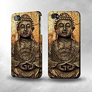 iPhone 4 / 4S Case - The Best 3D Full Wrap iPhone Case - Buddha Rock Carving