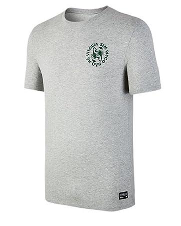 Nike Herren M NSW Hybrid 1 T Shirt  XLDk Grey Heather Obsidian