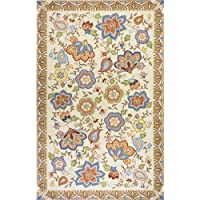 Momeni Rugs SPENCSP-22BGE2030 Spencer Collection, 100% Wool Hand Hooked Traditional Area Rug, 2 x 3, Beige