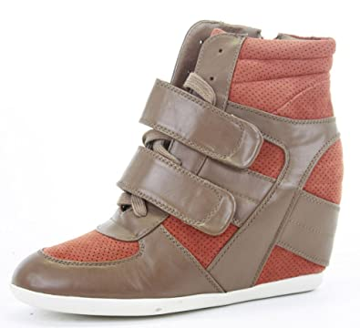 1cd7912a190 POP Womens Trainer High Heel Wedges Lace Up Platform Ankle Hi Tops Style  Boots Shoes Size 3-8  Amazon.co.uk  Shoes   Bags
