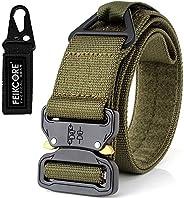 "FEIKCOR Tactical Belt 1.75"" Military Heavy Duty Waist Quick-Release Nylon"