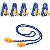 Tankerstreet 10paia di morbido silicone Corded Ear Plugs Defenders udito tappi per viaggiare russare sonno–blu