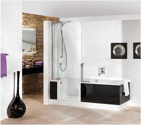Artweger Twin Line 2 Ducha Bañera con puerta 160 x 75 cm Mampara de plata mate: Amazon.es: Bricolaje y herramientas