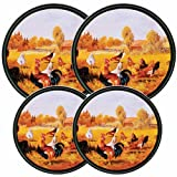Rooster Decor for Kitchen Reston Lloyd Electric Stove Burner Covers, Set of 4, Rooster Pattern