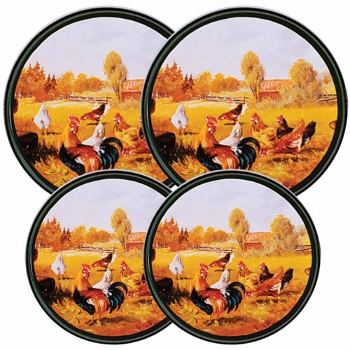 Reston Lloyd Electric Stove Burner Covers, Set of 4, Roos...