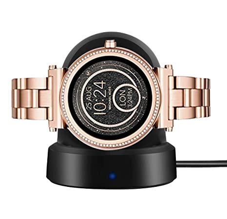 for Michael Kors Access Smartwatch Sofie Charger, LvBu Wireless Charging Dock Cradle Charger for Michael Kors Access Smartwatch Sofie (Black)