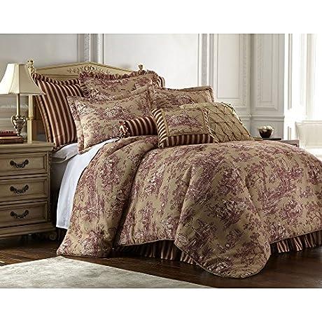 Sherry Kline Cassandra Toile 4 Piece Luxury Comforter Set California King