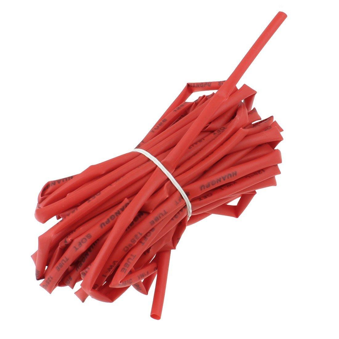 4 mm Dia Ratio 2: 1 chaleur tube thermoré tractable ré tré cit tube 10 m Rouge Sourcingmap a13031400ux0286