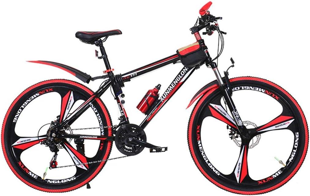 Bicicletas Triciclos Montaña para Adultos Carretera para Estudiantes Montaña De Verano Ocio Al Aire Libre (Color : Red, Size : 24inch)