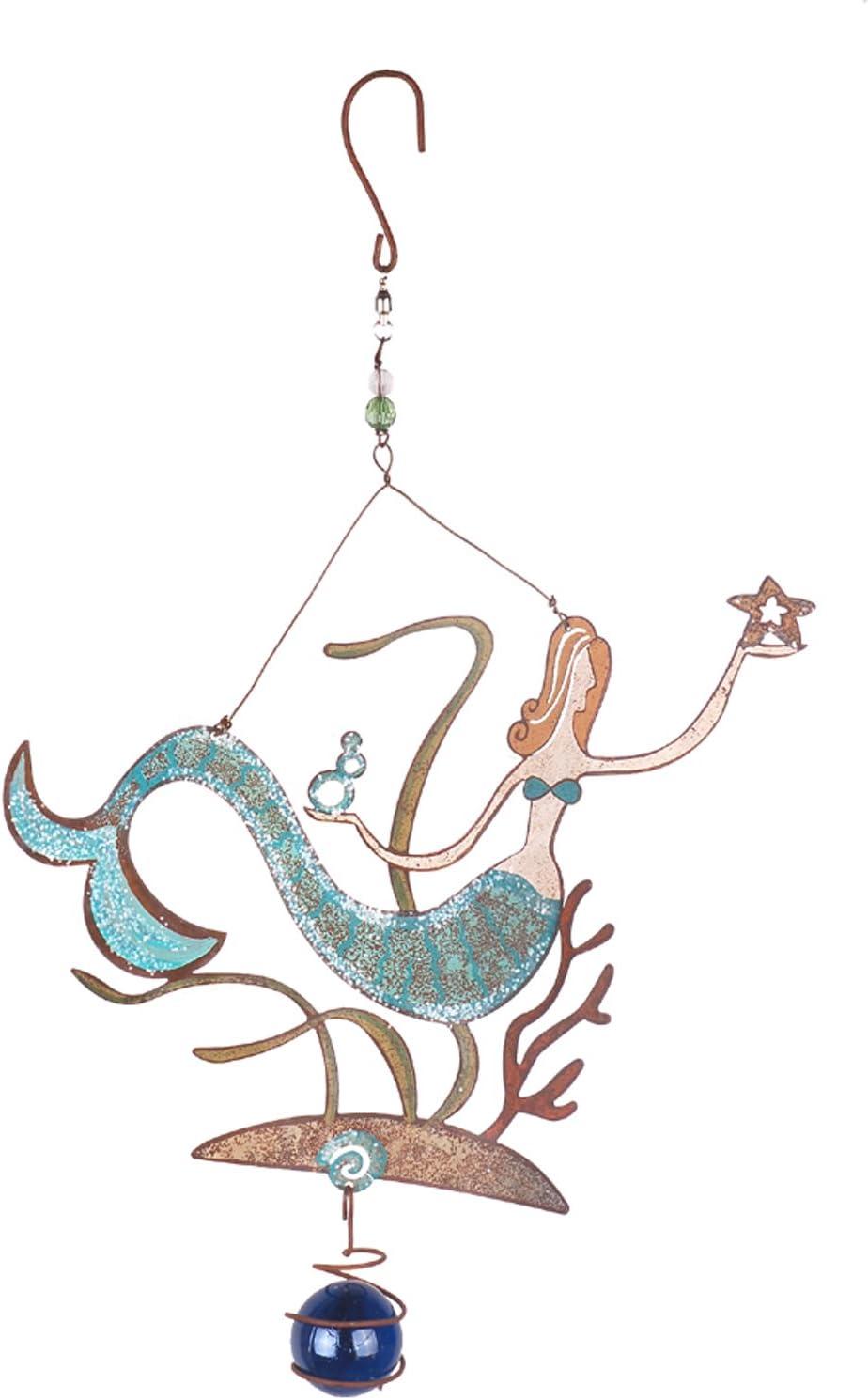 Sunset Vista Designs Meri Mermaid Decorative Spinner, 15-Inch Long