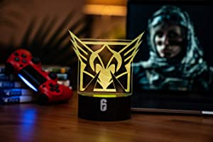 Six Siege LED Lamp - Valkyrie Operator - Rainbow Six Siege Decor for The Bedroom or Gaming Studio - Color Changing LED Nightlight Great for Cosplay Photoshoots with Any R6 Character