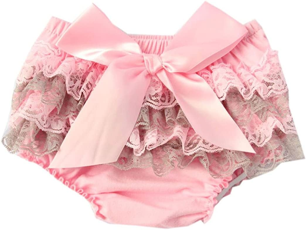 Pink2, 3years Lanhui Toddler Baby Girl Lace Ruffle Bloomer Nappy Underwear Panty Diaper Cover