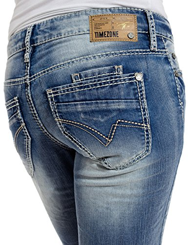 3499 Bleach Jeans cool Donna Timezone Wash Da Ninitz Blu awqxRvg