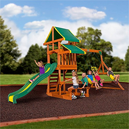 tucson cedar wooden swing set