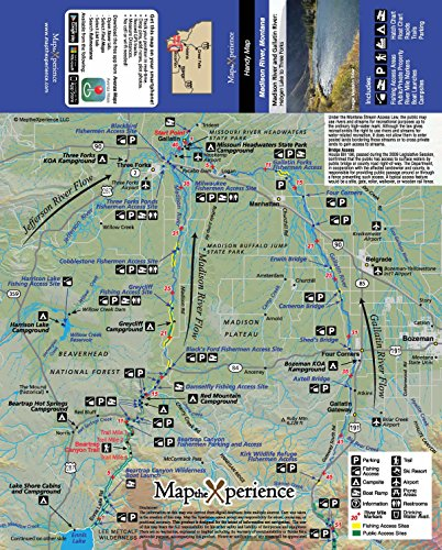 Madison River Montana Map.Amazon Com Madison River 15x11 Paper Fishing Map Digital Gps