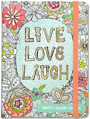 Live, Love, Laugh Adult Coloring Journal (Write, Color, - Color Journal