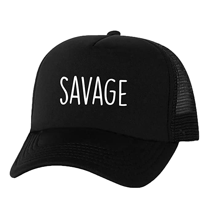 4d6797d0ae801 SAVAGE Truckers Mesh snapback hat in Black - One Size at Amazon ...
