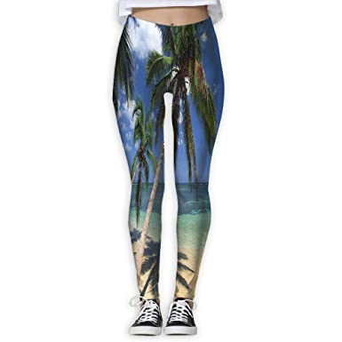 0b7fe849 HU MOVR Womens Yoga Pants Colored Sand Beaches Slim Fit Leggings Workout  Trousers