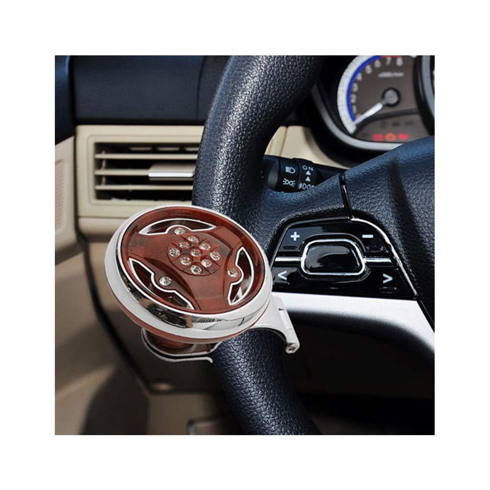 Wood Color Car Steering Wheel Spinner Knob Steering Wheel Booster Knob Steering Metal Durable Steering Wheel Suicide Spinner Knob