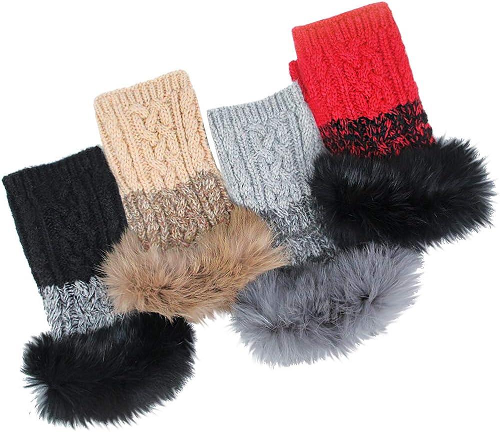 Me Plus Womens Woolen Knitted Fingerless Winter Gloves One Size M//L