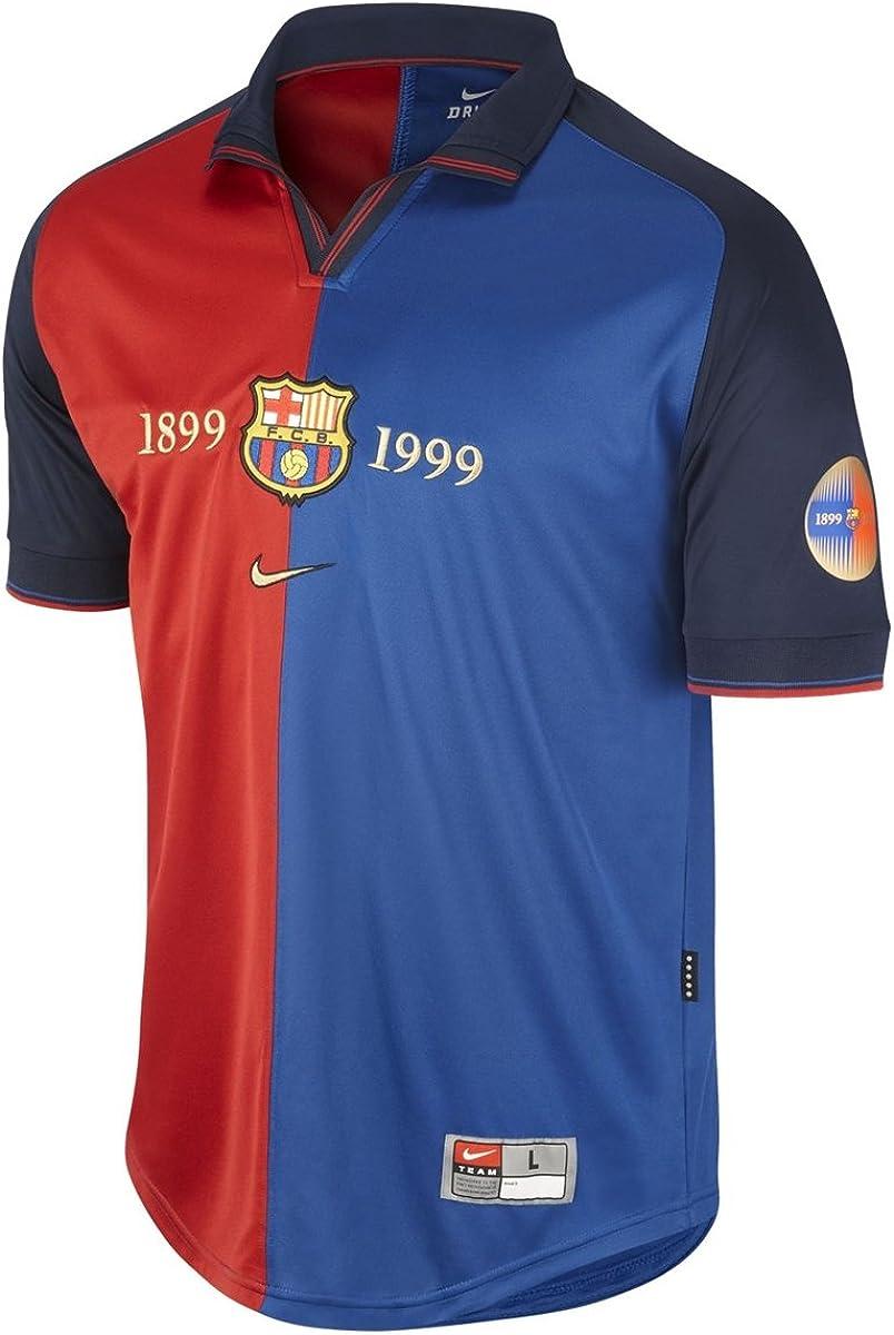 Camiseta FC Barcelona Centenario 1999/00 (M): Amazon.es: Zapatos y complementos