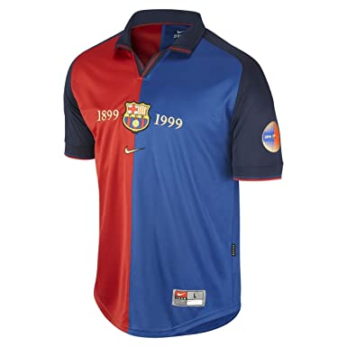 f4be2b2d3 Image Unavailable. Image not available for. Color  FCB Barcelona Centenario  1999 Home Jersey Retro (Small)