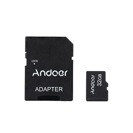 Andoer - 32 GB Clase 10 Tarjeta TF Tarjeta de Memoria + Adaptador + Card Reader USB Unidad de Flash para Cámara Auto de Cámara Teléfono Móvil Tabla PC ...