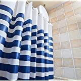 "PEVA Shower Curtain Waterproof Mildew-Resistant Bath Decorations 72"" x 72"""
