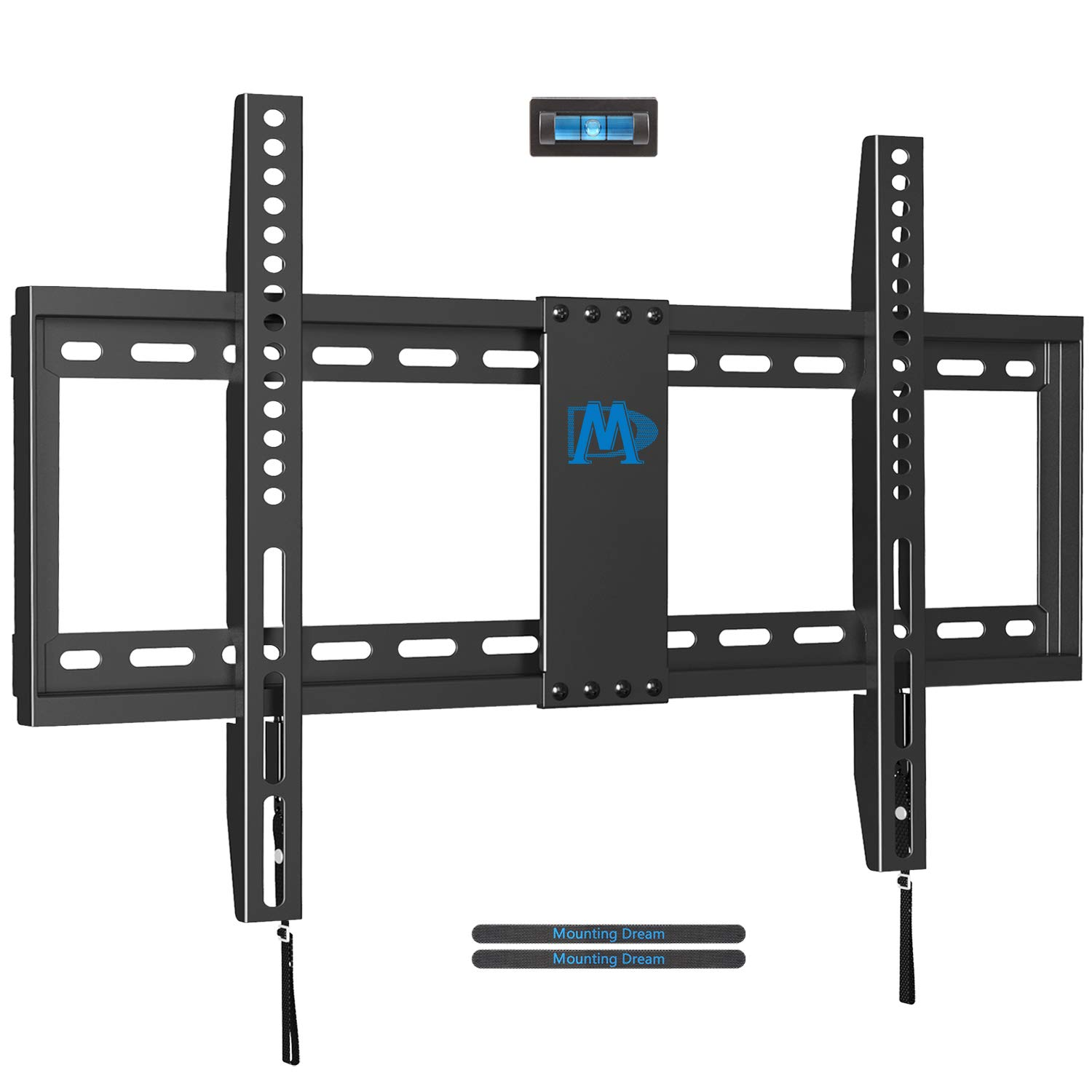 Mounting Dream MD2163-K Fixed TV Wall Mount Bracket for Most 42-70 Inch LED, LCD and Plasma TVs up to VESA 600 x 400mm and 132 LBS Loading Capacity, Low Profile
