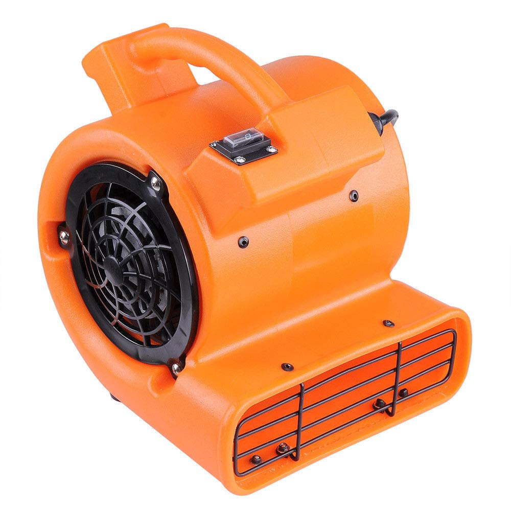 VeenShop Orange Air Mover Carpet Dryer Blower Floor Drying Industrial Fan for Commercial Home