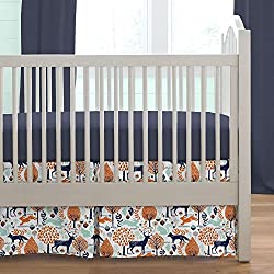 Carousel Designs Navy and Orange Woodland Boy's 2-Piece Crib Bedding Set