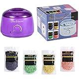 Hair Removal Hot Wax Warmer Waxing Kit Wax Melts Professional Wax Heater With 4 Flavors Hard Wax Beans
