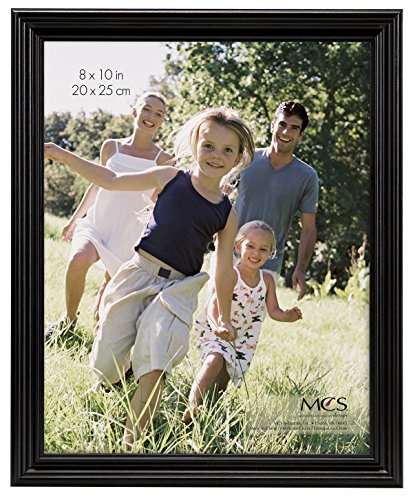 (MCS  8x10 Inch Solid Wood Picture Frame, Black)