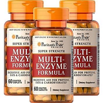 Super Fuerza Multi Fórmula de enzima 60 Cáps. PURITANS ...
