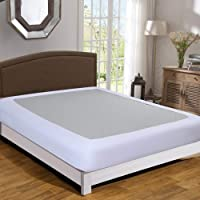 Twin Six Box Spring Cover, Box Spring Wrap Queen/King, Sleek Alternative for Bed Skirts, Extra Gift: Elastic Band