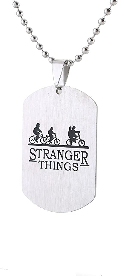 Amazon.com: Stranger Things collar con placa de bicicleta ...